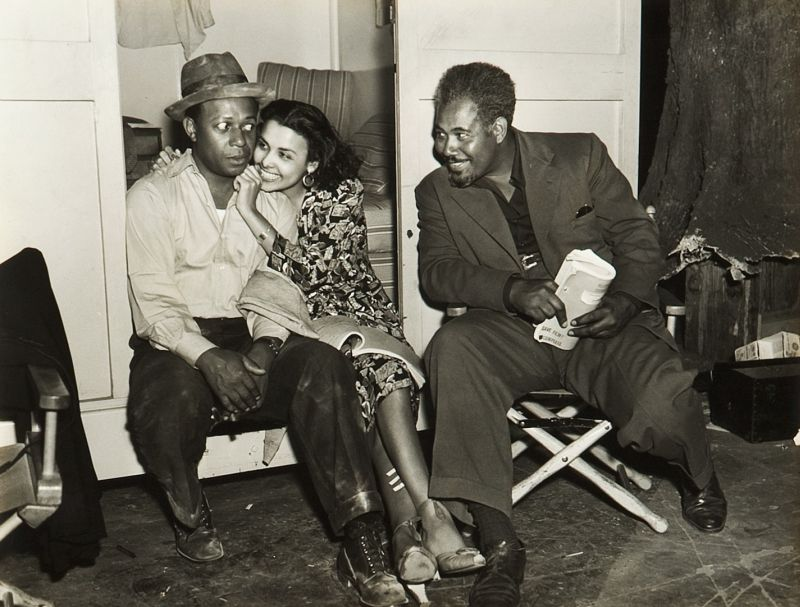 Eddie Anderson, Lena Horne, and Rex Ingram - Behind the Scenes of Cabin in the Sky