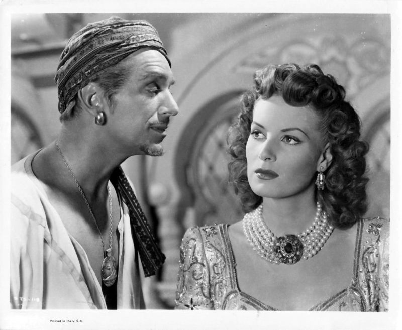 Maureen O'Hara and Douglas Fairbanks Jr., Sinbad the Sailor Lobby Card