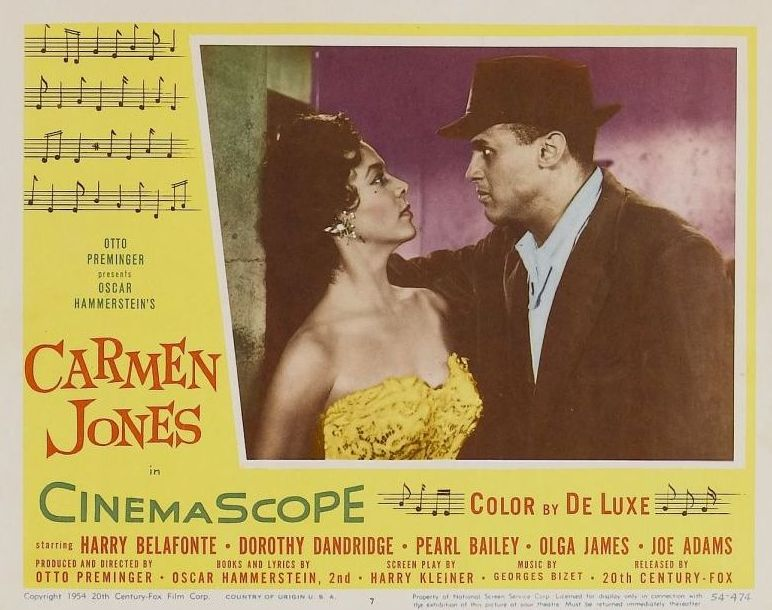 Dorothy Dandridge and Harry Belafonte Carmen Jones Lobby Card