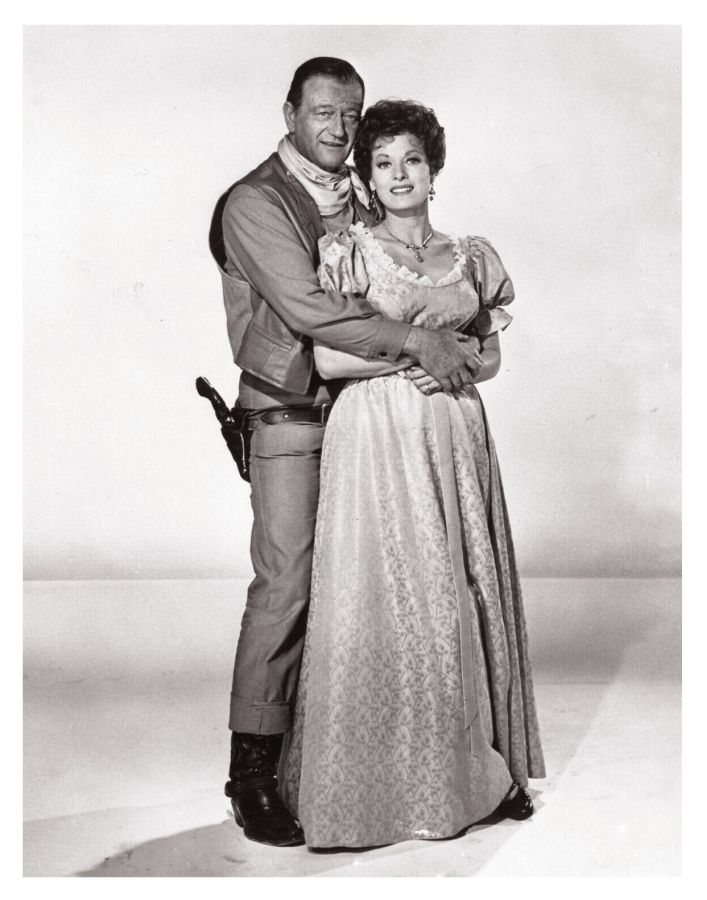 John Wayne and Maureen O'Hara, McLintock