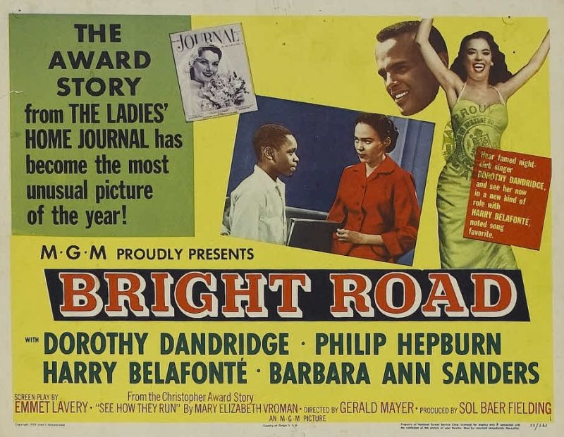 Dorothy Dandridge and Harry Belafonte, Bright Road Lobby Card