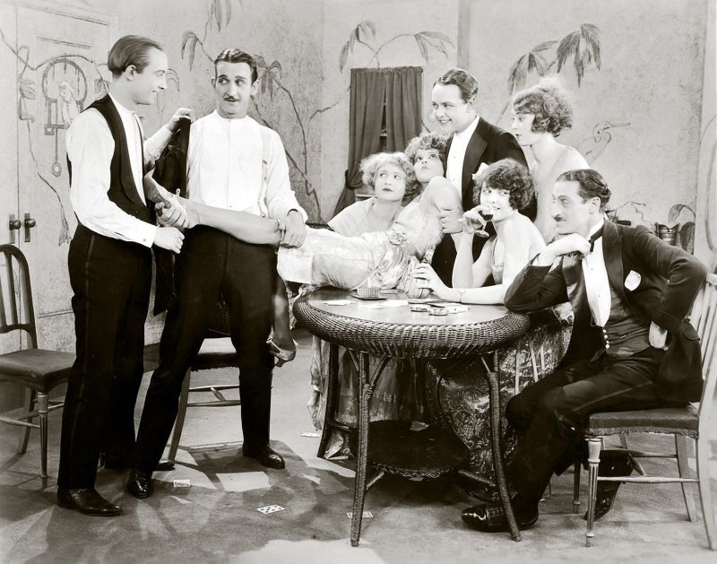 Clara Bow and the Cast of Wine