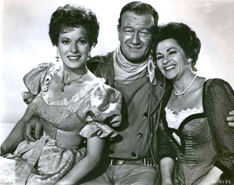 Maureen O'Hara, John Wayne, and Yvonne De Carlo in McLintock!