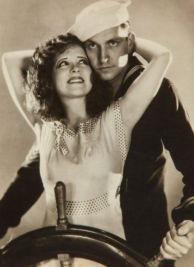 Clara Bow and Fredric March, True to the Navy