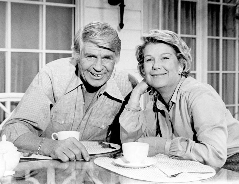 Jim Davis and Barbara Bel Geddes