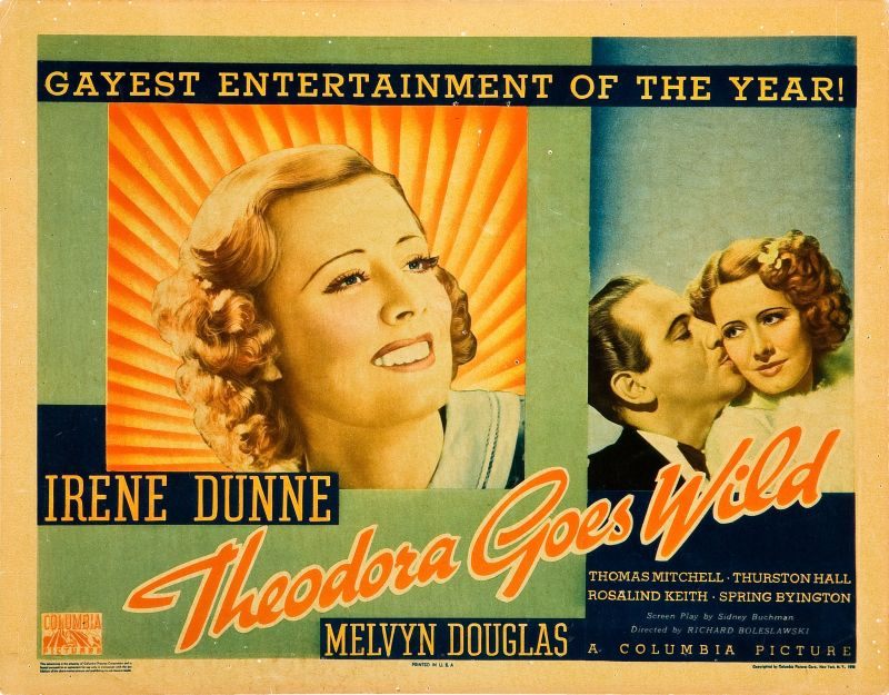 Theodora Goes Wild, Irene Dunne and Melvyn Douglas