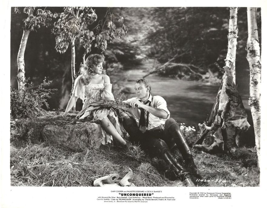 Paulette Goddard and Gary Cooper, Unconquered Lobby Card