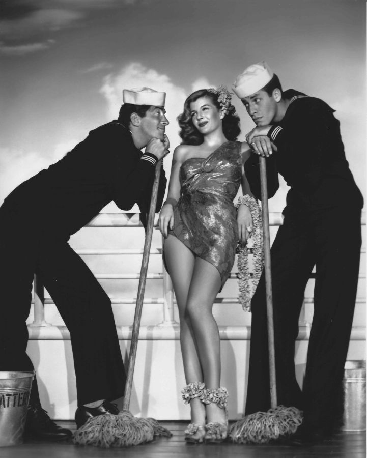 Dean Martin, Corinne Calvet, and Jerry Lewis Sailor Beware