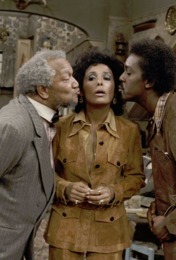 Lena Horne, Redd Foxx, and Demond Wilson on Sanford and Son