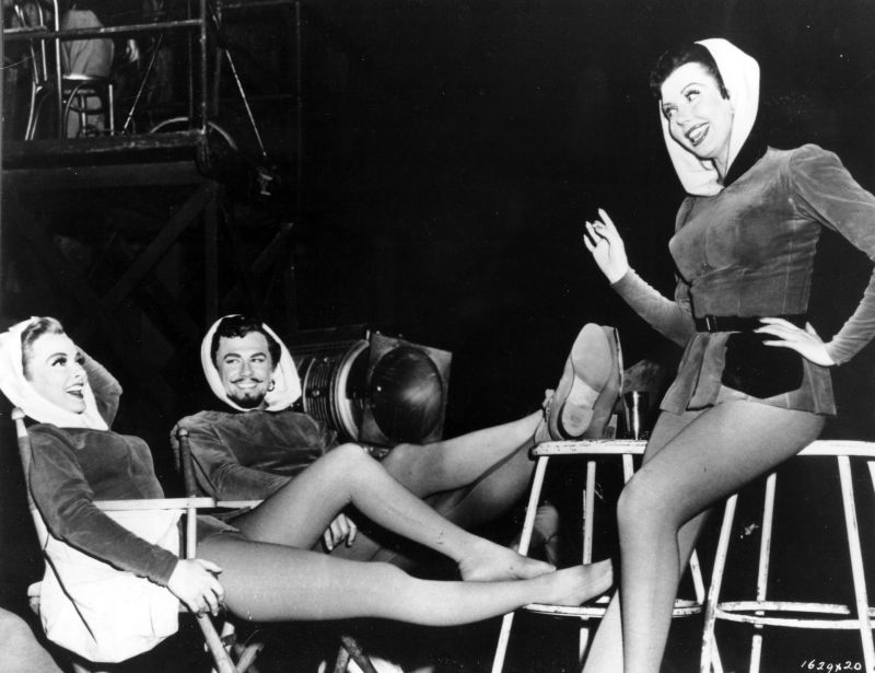 Kathryn Grayson, Howard Keel, and Ann Miller Behind the Scenes of Kiss Me Kate
