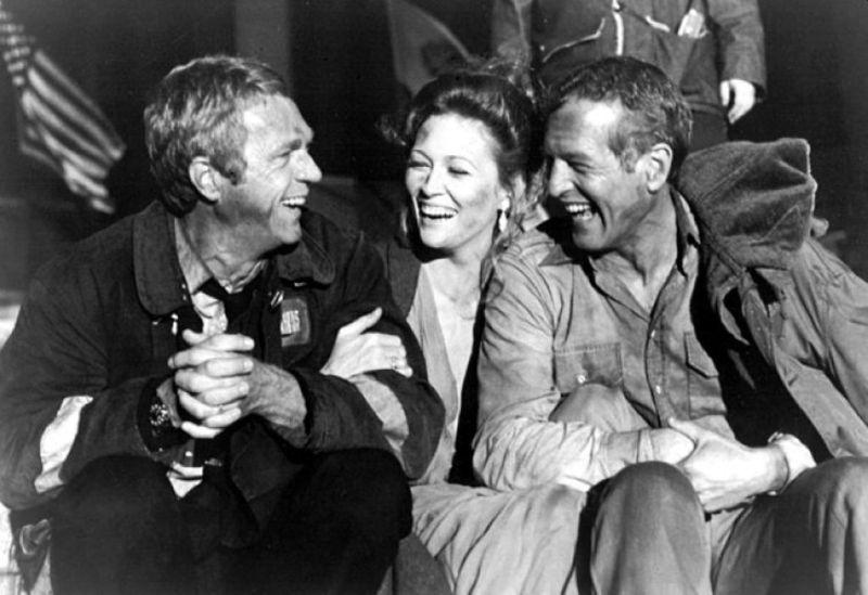 Steve McQueen, Faye Dunaway, and Paul Newman