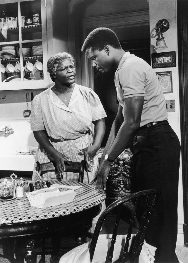 Claudia McNeil and Sidney Poitier in A Raisin in the Sun