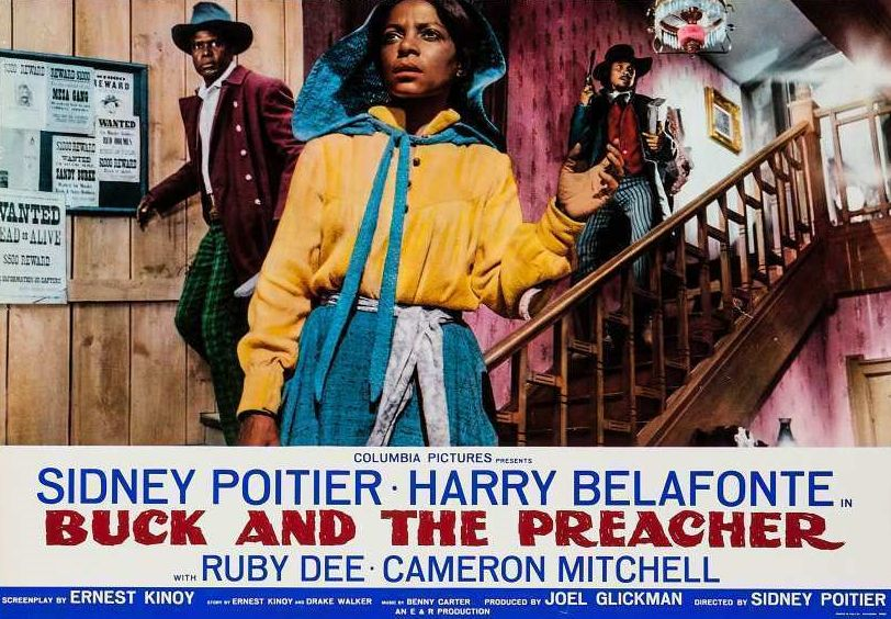 Buck and the Preacher Lobby Card: Sidney Poitier, Ruby Dee, and Harry Belafonte