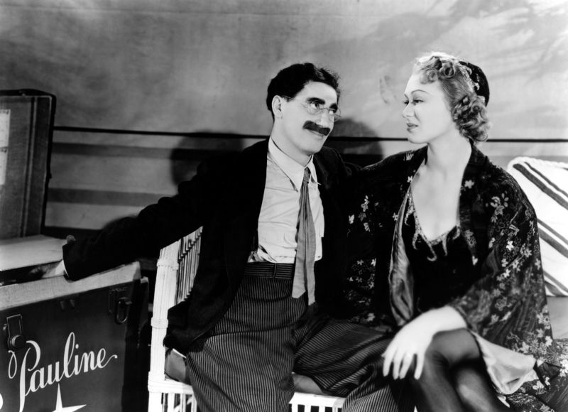 Groucho Marx and Eve Arden, At the Circus