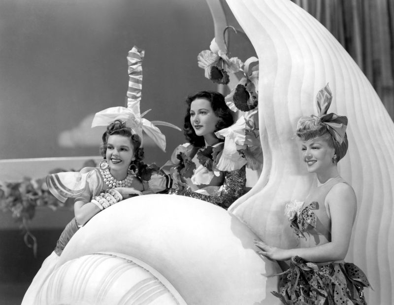 Hedy Lamarr, Judy Garland, and Lana Turner