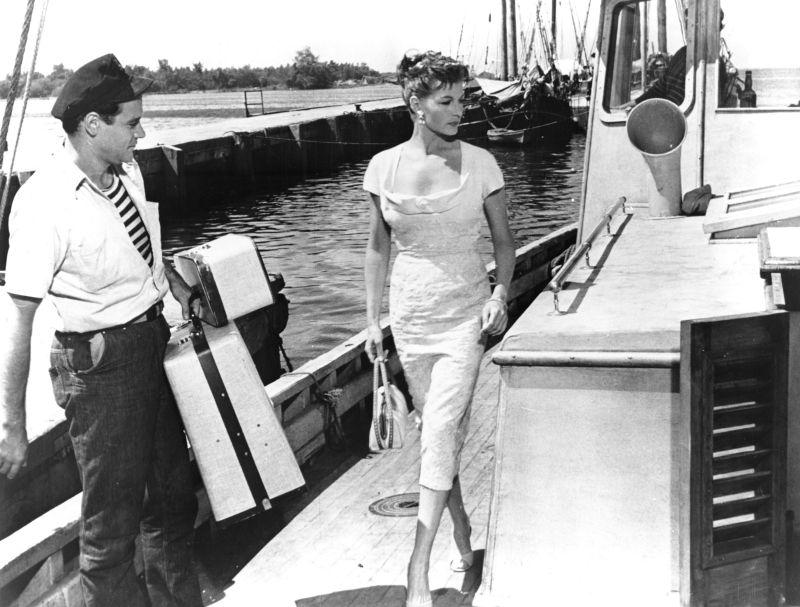 Jack Lemmon and Rita Hayworth