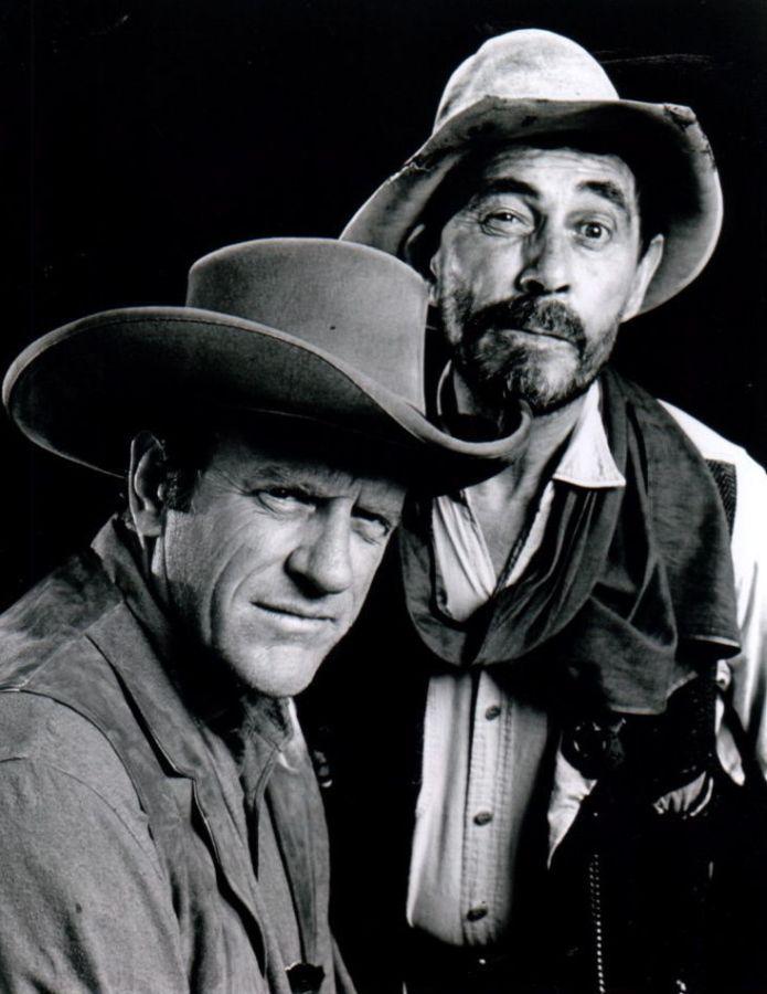James Arness and Ken Curtis, Gunsmoke