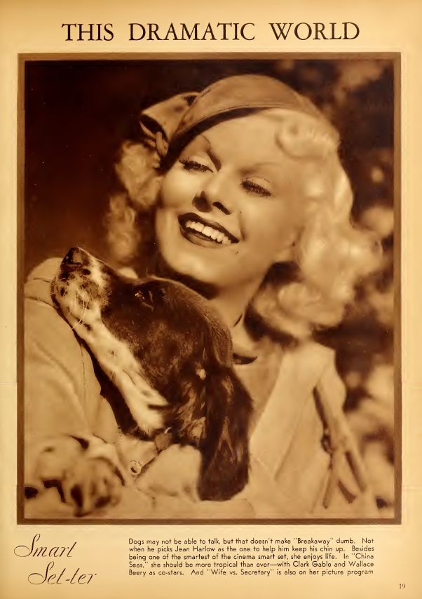 Jean Harlow, Movie Classic from July 1935