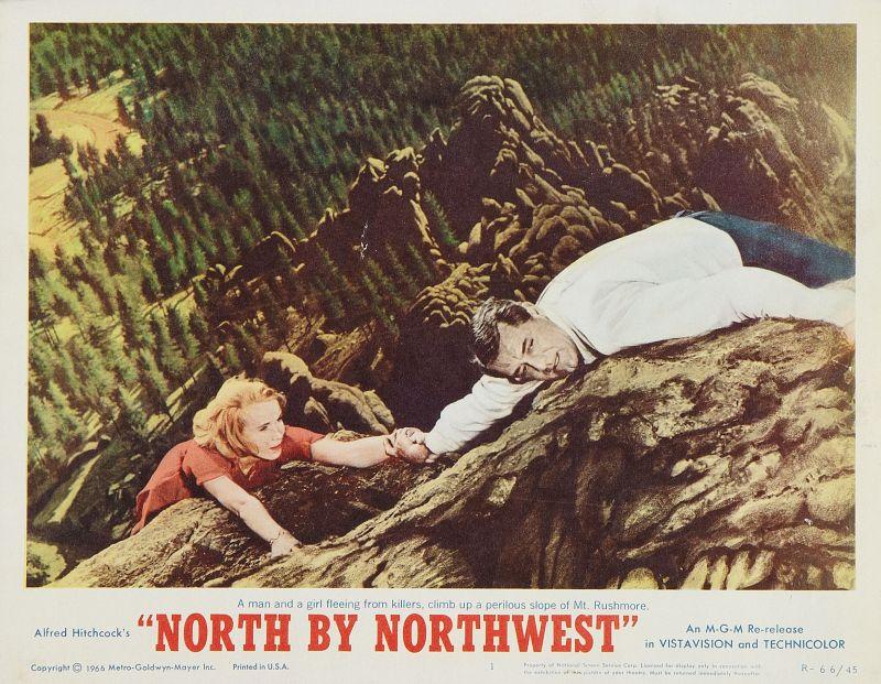 North by Northwest Lobby Card