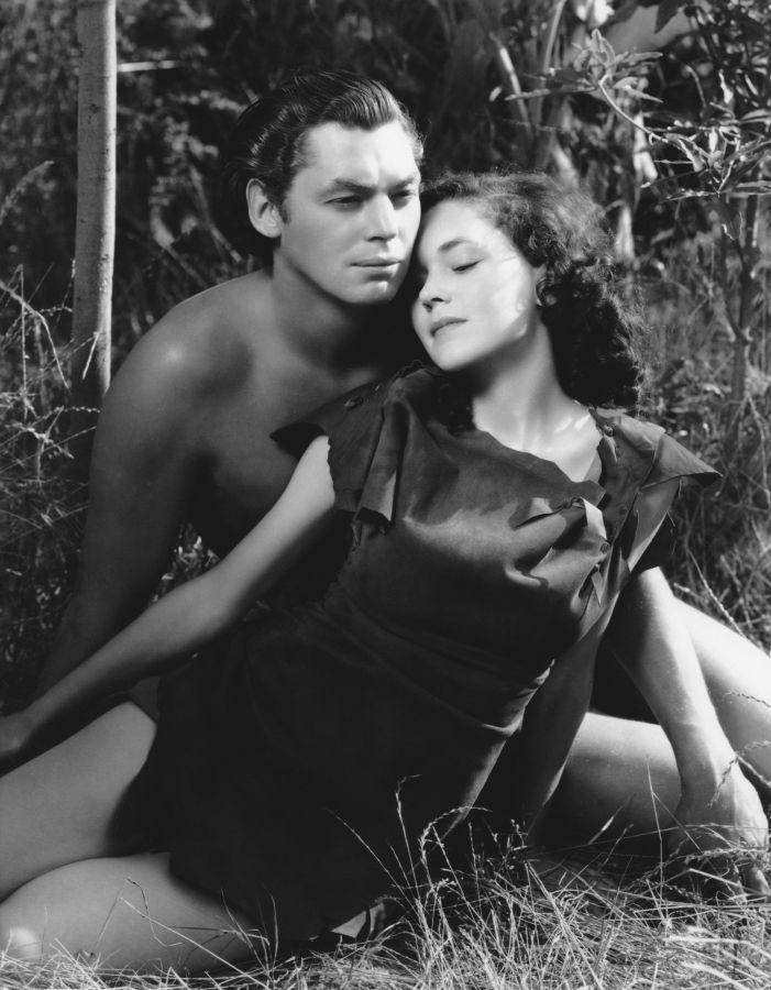 Maureen O'Sullivan and Johnny Weissmuller, Tarzan Escapes