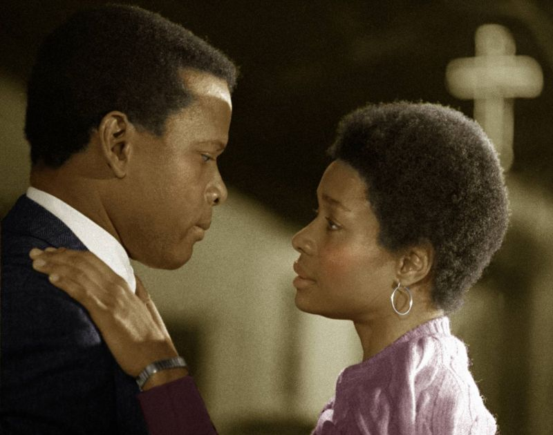 Sidney Poitier and Beverly Todd