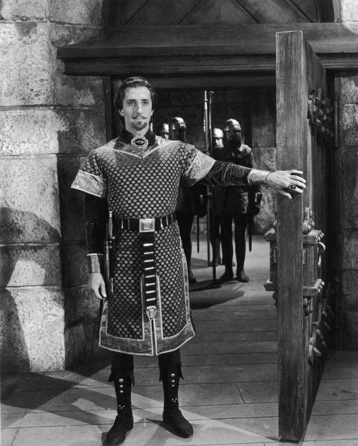 Basil Rathbone in The Adventures of Robin Hood