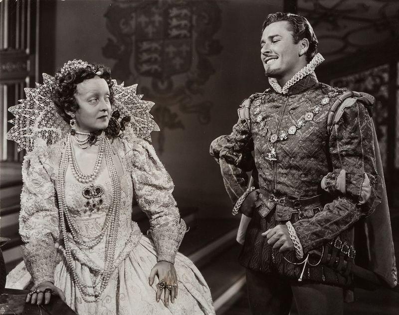 Bette Davis and Errol Flynn in The Private Lives of Elizabeth and Essex