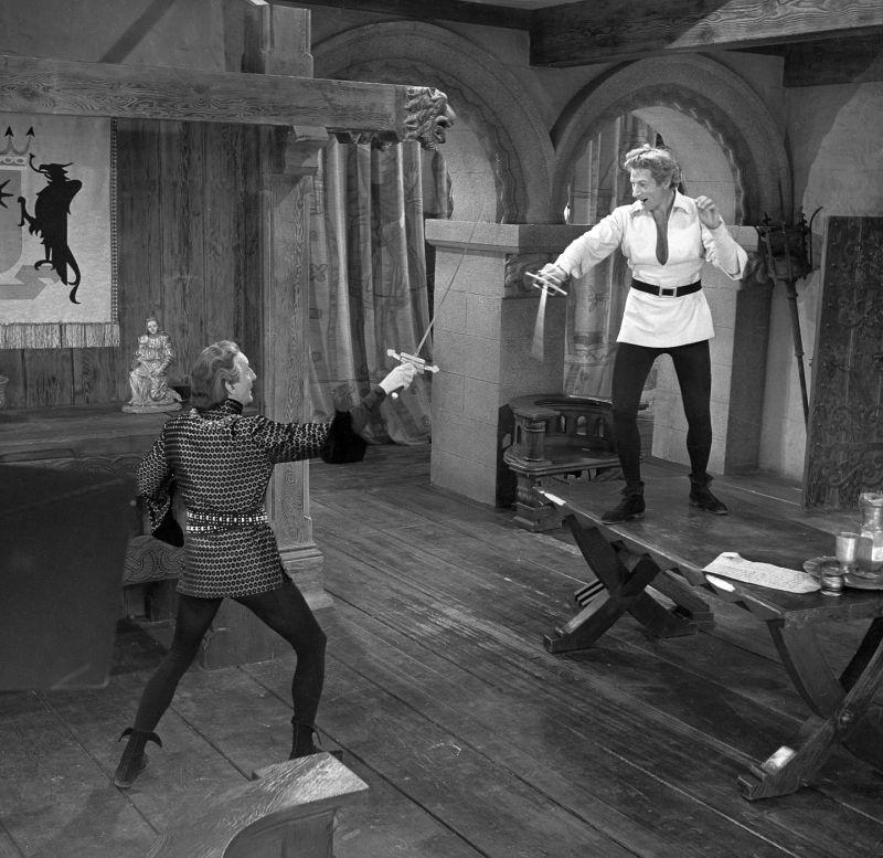 Danny Kaye and Basil Rathbone