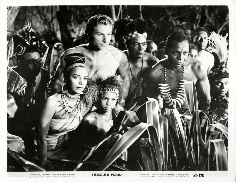 Dorothy Dandridge and Lex Barker in Tarzan's Peril