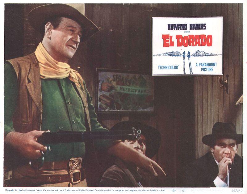 El Dorado Lobby Card: John Wayne, Christopher George, and Ed Asner