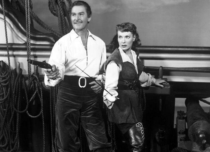 Errol Flynn and Maureen O'Hara, Against All Flags