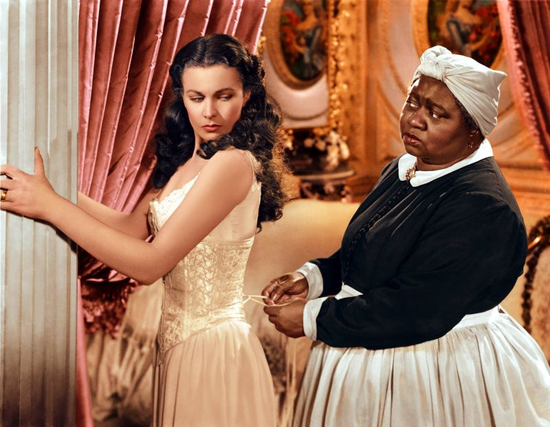 Hattie McDaniel and Vivien Leigh in Gone With the Wind