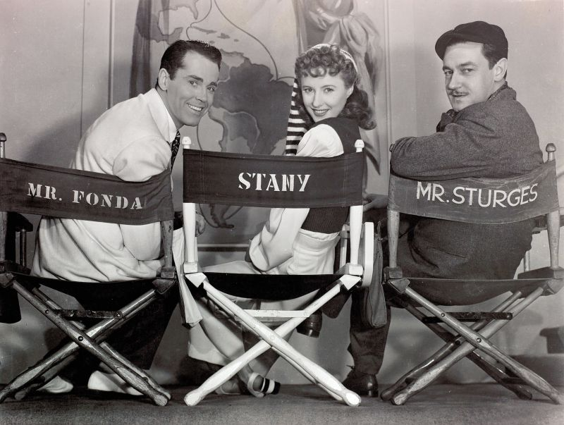 Henry Fonda, Barbara Stanwyck, and Preston Sturges