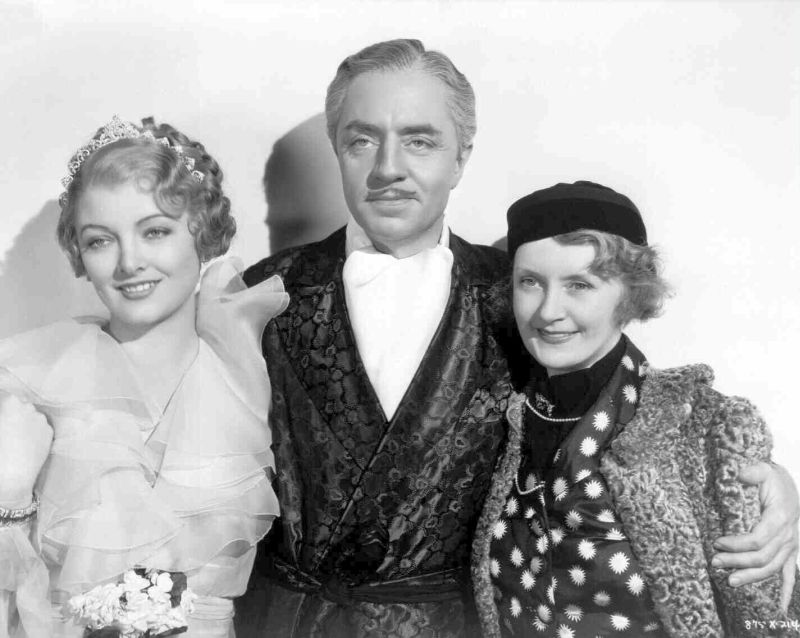 Myrna Loy, William Powell, and Billie Burke in The Great Ziegfeld