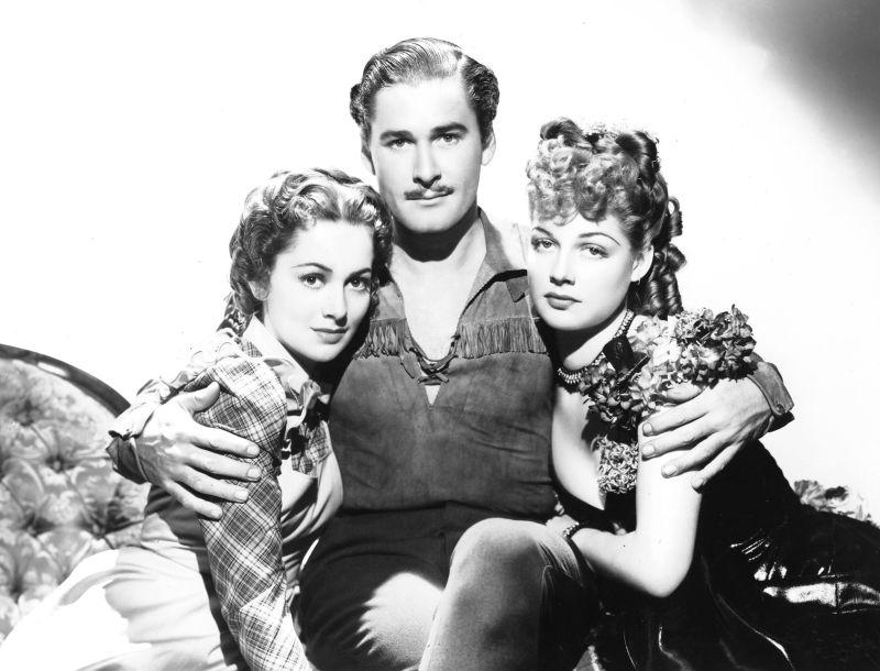 Olivia de Havilland, Errol Flynn, and Ann Sheridan in Dodge City