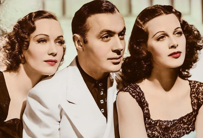 Sigrid Gurie, Charles Boyer, and Hedy Lamarr in Algiers