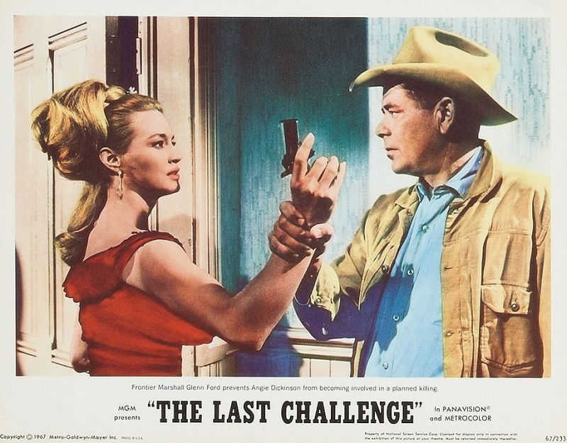 Angie Dickinson and Glenn Ford: The Last Challenge Lobby Card