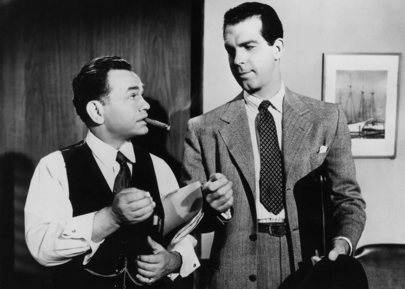 Fred MacMurray and Edward G. Robinson