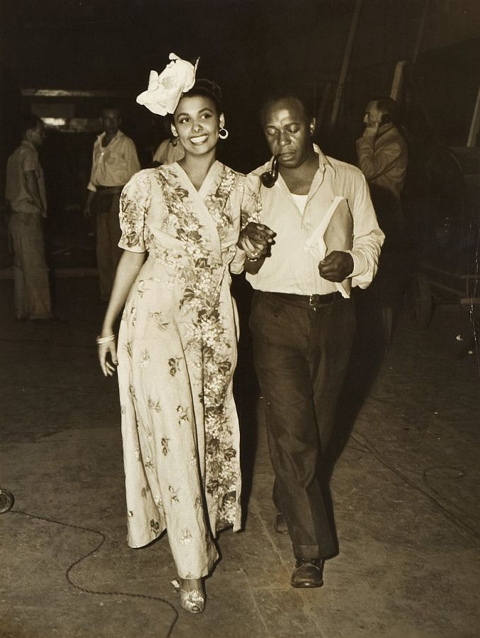 Lena Horne and Eddie Anderson - Behind the Scenes of Cabin in the Sky