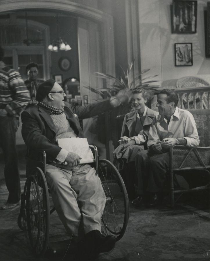 Lionel Barrymore, Lauren Bacall, and Humphrey Bogart Behind the Scenes of Key Largo
