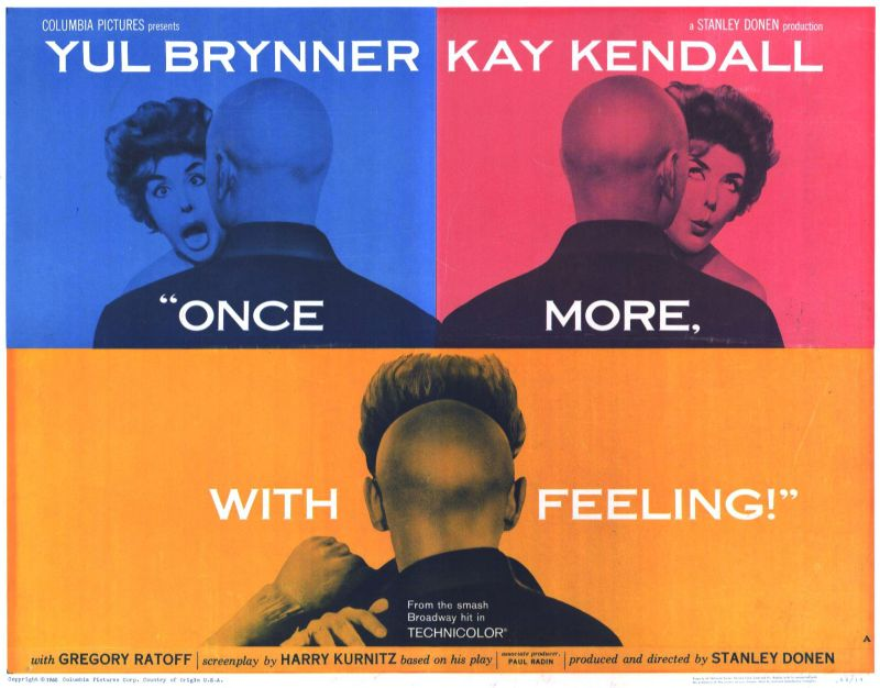 Once More with Feeling Lobby Card, Kay Kendall and Yul Brenner