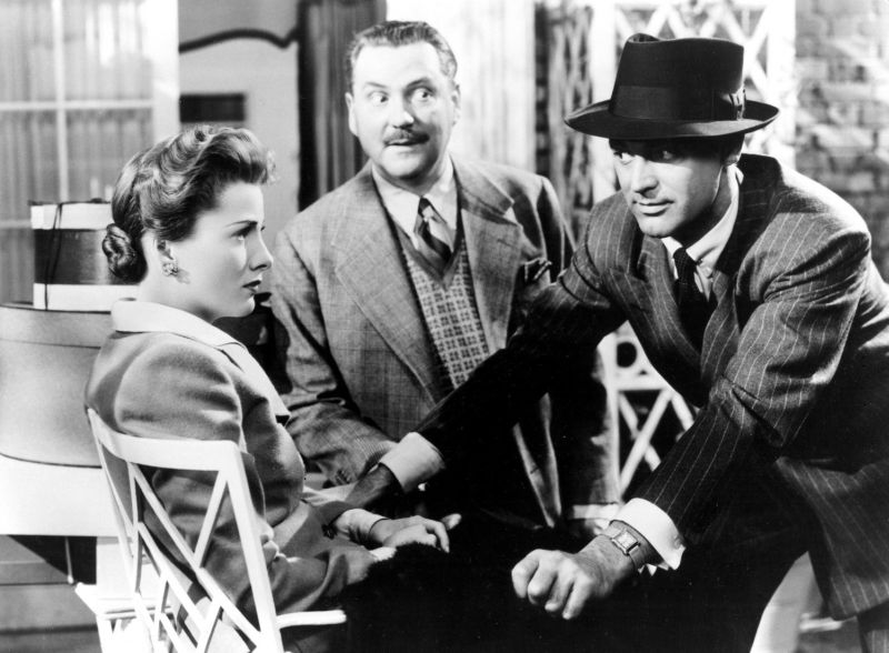 Joan Fontaine, Cary Grant, and Nigel Bruce in Suspicion