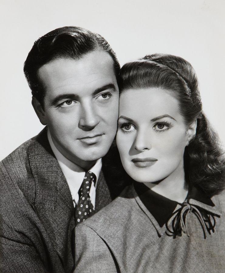 John Payne and Maureen O'Hara
