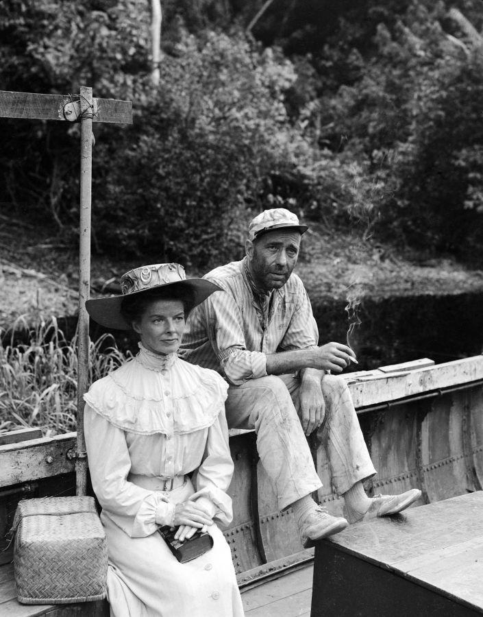 Katharine Hepburn and Humphrey Bogart, The African Queen