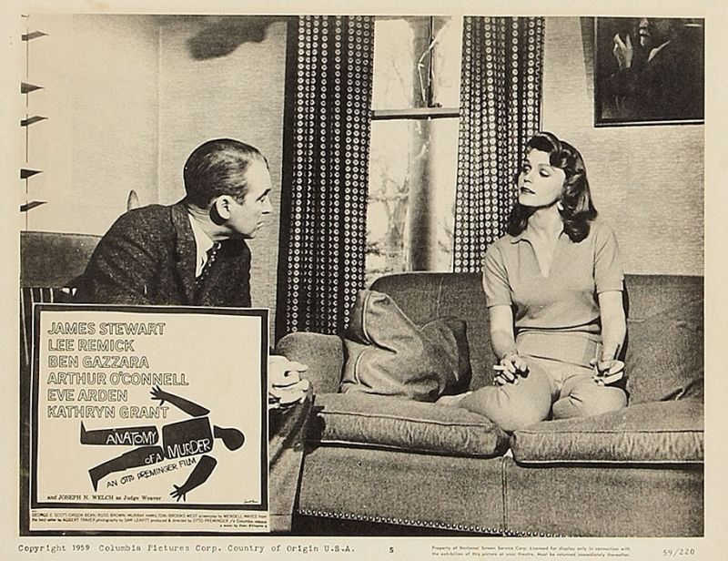 Lee Remick and James Stewart in Anatomy of a Murder
