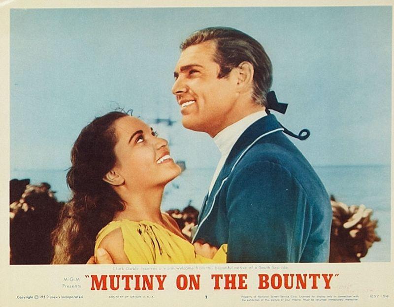 Mutiny on the Bounty: Movita and Clark Gable