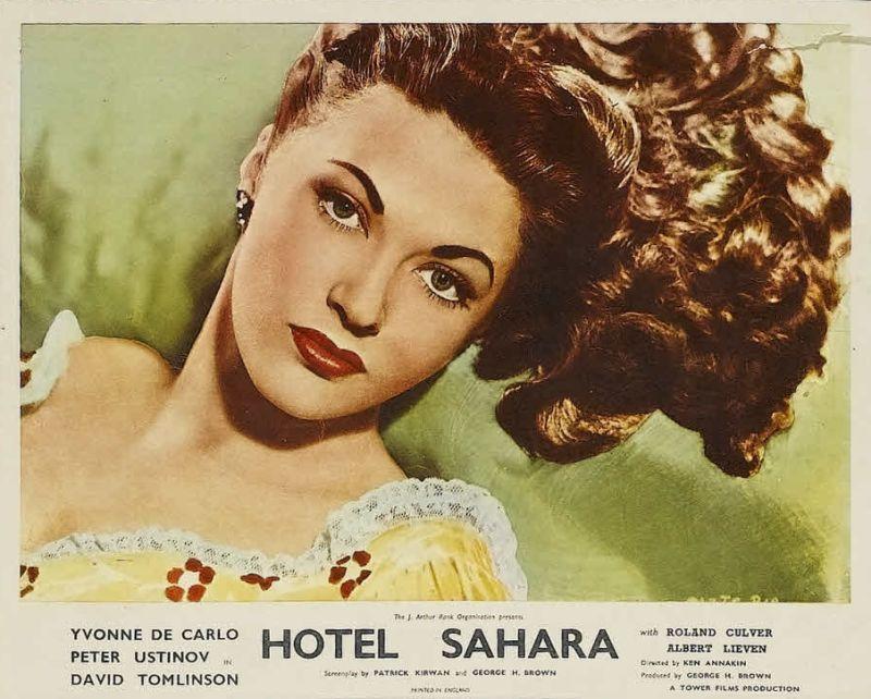 Yvonne De Carlo, Hotel Sahara