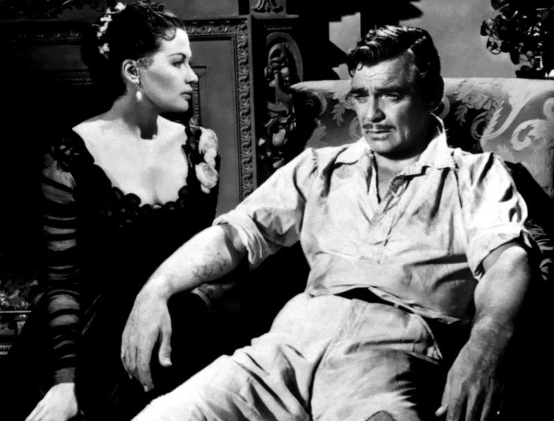 Yvonne DeCarlo and Clark Gable, Band of Angels