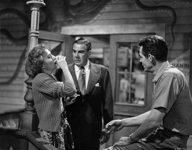 Barbara Stanwyck, Paul Douglas, and Robert Ryan in Clash by Night