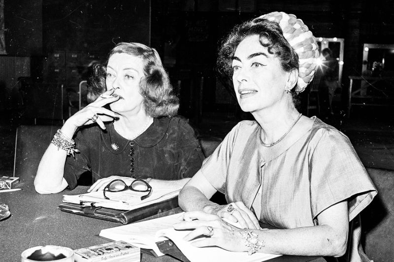 Bette Davis and Joan Crawford on the set of Whatever Happened to Baby Jane